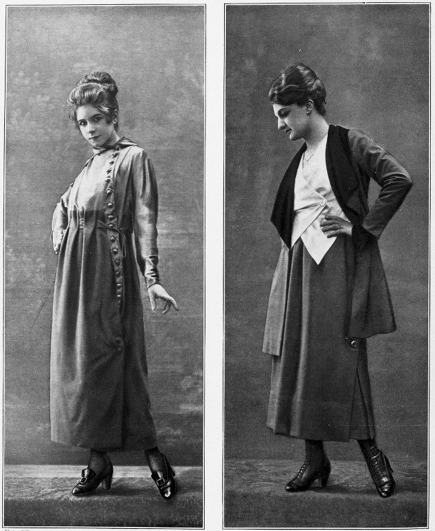 What did women wear in 1917?