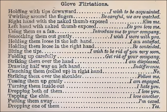 Victorian lessons how to flirt with gloves the importance of ring loves telegraph altavistaventures Images