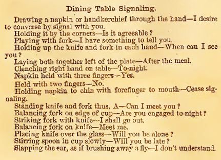 secret flirtations at the dinner table and more victorian love